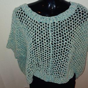 Mermaid Net two tone Aqua Sweater